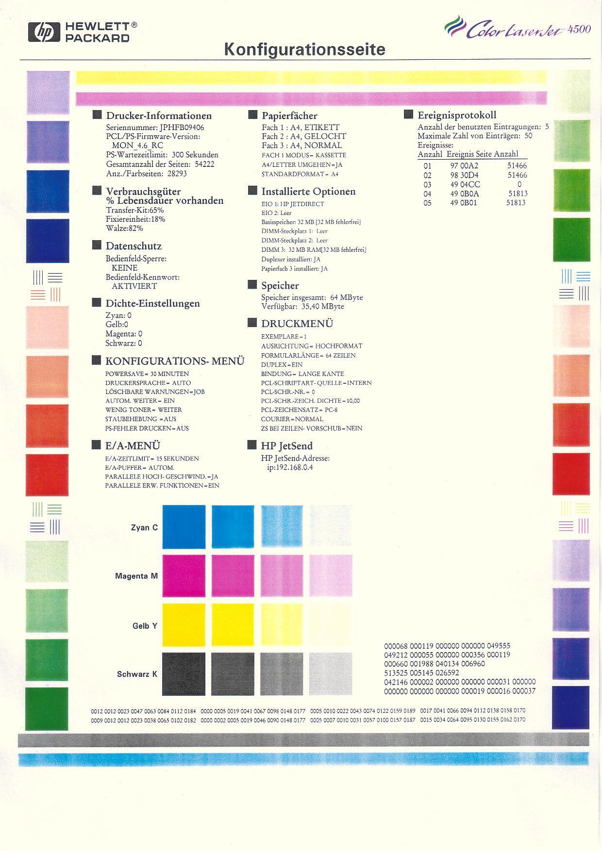 CLJ 4500DN: helle Streifen beim Farbdruck | Forum | Druckerchannel (DC)